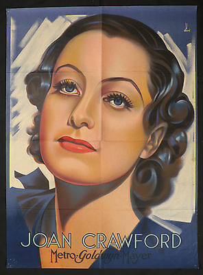 JOAN CRAWFORD 1930s French Personality Poster DECO ARTWORK