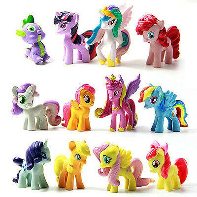 5Lot of 12Pcs My Little Pony Cake Toppers PVC Action Figures Kids Girl Toy Dolls