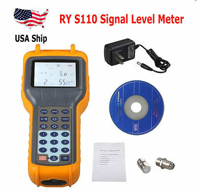 RY S110 CATV Cable TV Handle Digital Signal Level Meter DB Tester US Shipping