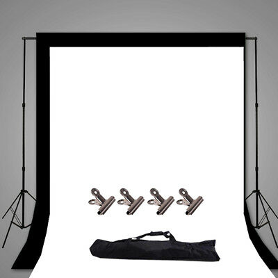 Photography Black White Backdrop Background Support Stand Lighting Studio Kit