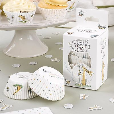 100 Guess How Much I Love You Cupcake Baking Cases, Baby Shower Christening