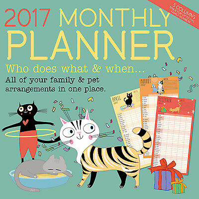 2017 Cat & Family Monthly Planner
