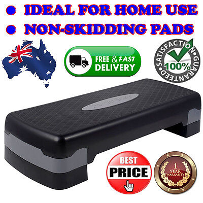 """27'' Fitness Aerobic Step Adjust 4"""" - 6""""Exercise Stepper w/ Risers Home Gym"""