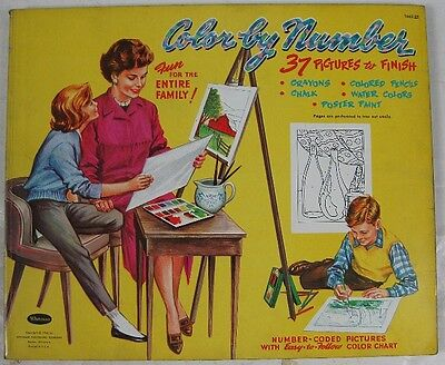 Vintage 1960 Color by Number Coloring Book Whitman 1662.59