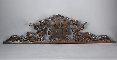 Antique Pediment Brittany Carved Wood
