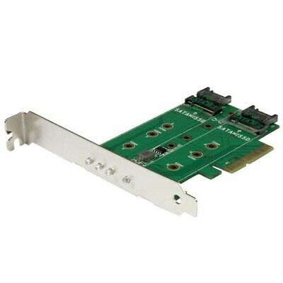 StarTech.com 3-Port M.2 SSD (NGFF) Adapter Card - 1 x PCIe (NVMe) M.2, 2 x SATA