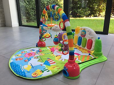 Baby Gym Play Mat Lay & Play 3 in 1 Music And Lights Fun Piano Green