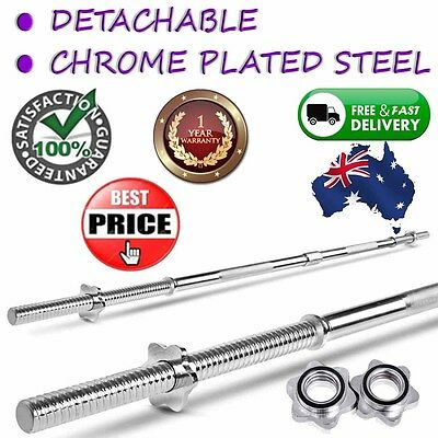 168cm Chrome Coating Home Fitness Barbell Steel Weight Plate Body Bar