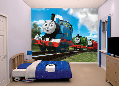 NEW Thomas and Friends Walltastic Wallpaper Mural for Kids Bedrooms