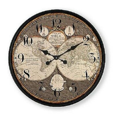 "Extra, Extra Extra Large Retro Shabby Chic Wall Clock 80cm Diameter (31"" +) 6084"
