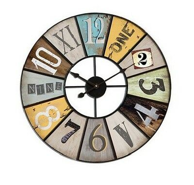 "Extra, Extra Large Retro Shabby Chic Wall Clock 58cm Diameter (22"" +) 5280"