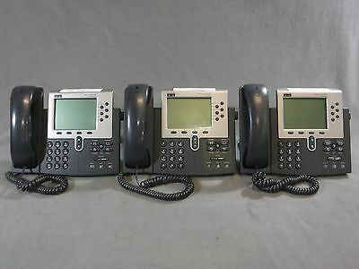 Lot of 3 - Cisco Unified IP 7960G Caller ID Office 7940 VoIP Business Phone