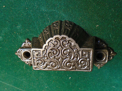 Vintage Eastlake Drawer / Bin Pull - Cast Steel, Beautiful   (6312) • CAD $16.38