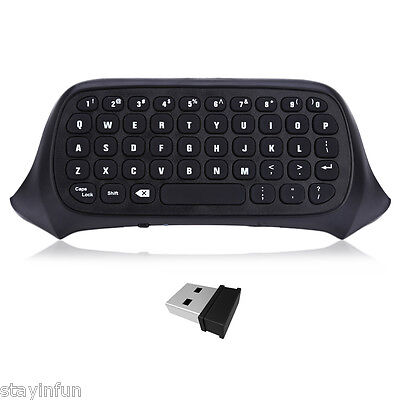Wireless Keyboard Game Chatpad Text Pad with 2.4G USB Receiver for X-BOX One