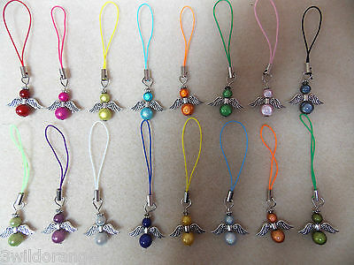 Angel mobile phone ds bag ipod charm keyring Various colours