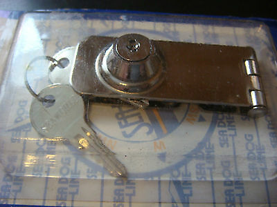 "Locking Hasp STAINLESS 3"" DOOR HOLDER SeaDog NIP 2 keys SEADOG New Latch"
