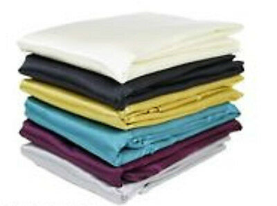 Pair Of Shiny Silky Satin Pillowcases Brown Grey Navy Blue Pink Black Red White