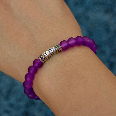 Purple PLUR Friendship Tracking Bracelet - Inspirational EDM Rave Kandi Beads