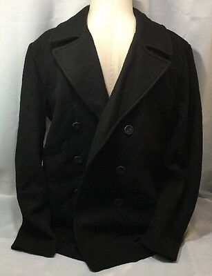 Vince Camuto Men Medium Wool Blend Stadium Coat VM5AB406 Black