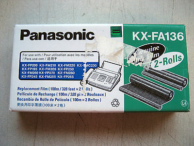 NEW 2-rolls Box OEM Panasonic kx-fa136 replacement film refil , w/warranty