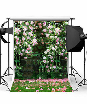Wedding Background Flower Photo Props Vinyl 5x7FT Romantic Photography Backdrops