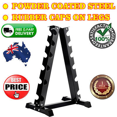 120Kgs Vertical Steel Construction Fitness Dumbbell Storage Rack 6 Pairs