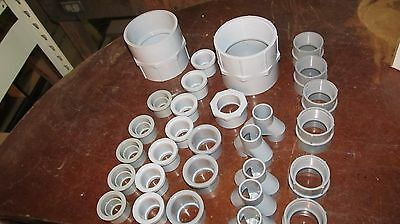 29 Pc. Lot of Kraloy, Centaur, & Ipex PVC Grey Electrical Parts