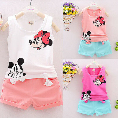 2pcs Toddler Infant Kids Baby Girls Clothes T-shirt Tops+Pants/Dress Outfits Set