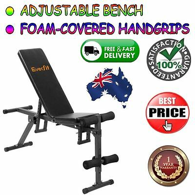 Weights Bench Home Gym Adjustable Multi-Station Flat Incline Workout Press