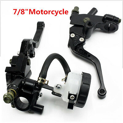 Universal Front Motorcycle Brake Clutch Levers Master Cylinder fits Handlebars
