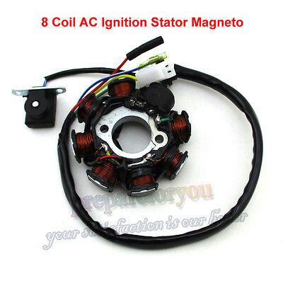 8 Coil Pole AC Ignition Stator Magneto For GY6 50cc Moped Scooter ATV Go Kart
