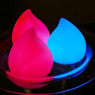Water Drop Shaped Rainbow Colour Changing Bath Light Floating Lamp