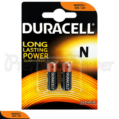 2 x Duracell Alkaline N LR1 1.5V batteries MN9100 E90 AM5 2 in Pack EXP:2020