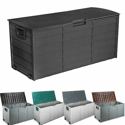 290L Lockable Outdoor Storage Box Container Weatherproof Garden Deck Toy