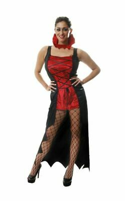 Vampire Mistress Halloween Costume Adult Outfit Fancy Dress Womens Size 8-12