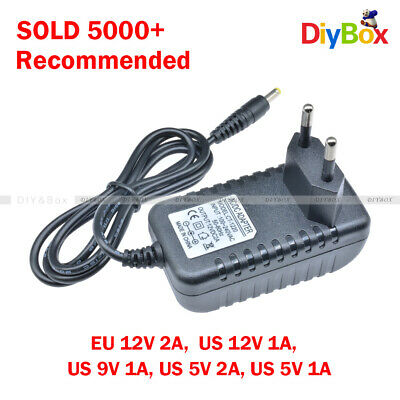 EU/US Plug AC 100-240V to DC12V 9V 5V 1A 2A Power Supply Converter LED Light D