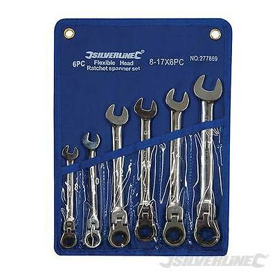 Silverline Flexible Head Ratchet Spanner Set 6pce 8mm-17mm 277869