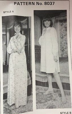 Sewing Pattern For Two Ladies Nightdresses Size 12 To 18 New Uncut Pattern