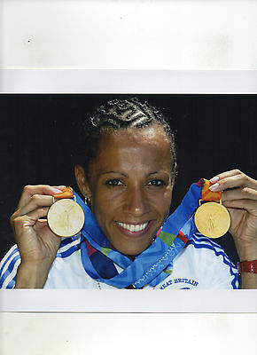 Dame Kelly Holmes (Double Gold) 8x10 Colour Photo Athens Olympics 2004