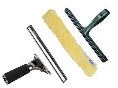 Ettore 12'' Master Squeegee and 14'' ProGrip T-bar with Ettore Golden Sleeve
