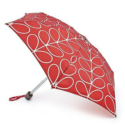 Orla Kiely by Fulton Tiny-2 Umbrella - Linear Leaf Red - BNWT