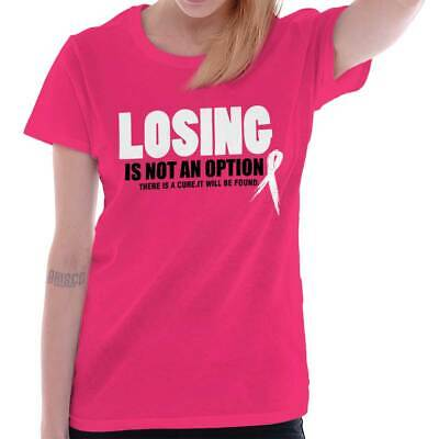 322940d5 Breast Cancer Awareness Cool Losing Not Option Ribbon Gift Womens T Shirt