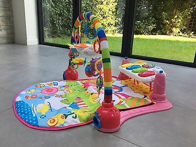 Baby Gym Play Mat Lay & Play 3 in 1 Fitness Music And Lights Fun Piano Girl Boy