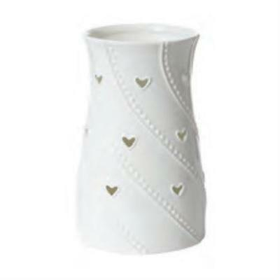 Yankee Candle White Hearts Jar Holder