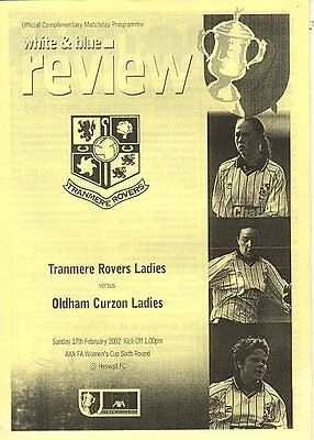 Ladies Football - tranmere v Oldham Curzon 17.2.2002 Womens FA Cup
