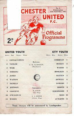Reserves - Manchester United v Manchester City 27.9.1967