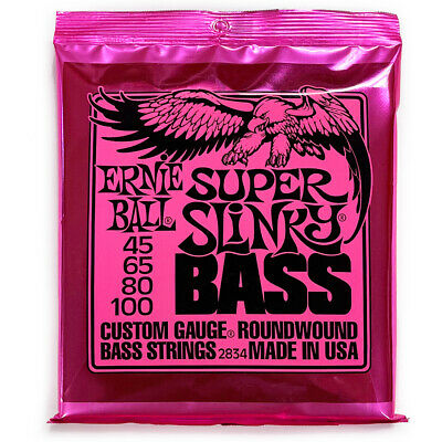 Ernie Ball 2834 Super Slinky Nickel Wound Electric Bass Strings (45-100)