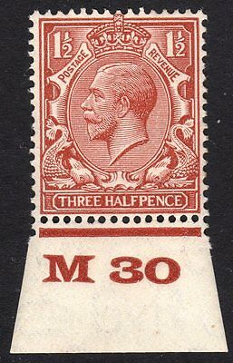 GB GV SG420 N35 :1 1/2d Block cypher: mounted mint: Control M30