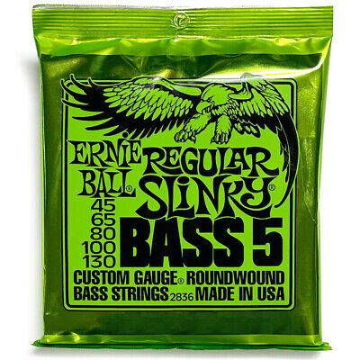 Ernie Ball 2836 Regular Slinky 5 Nickel Wound Electric Bass Strings (45-130)