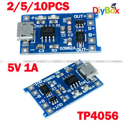 2/5/10PCS 5V Micro USB 1A 18650 Lithium Battery Charging Board Charger Module D